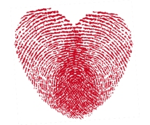 heart fingrprints